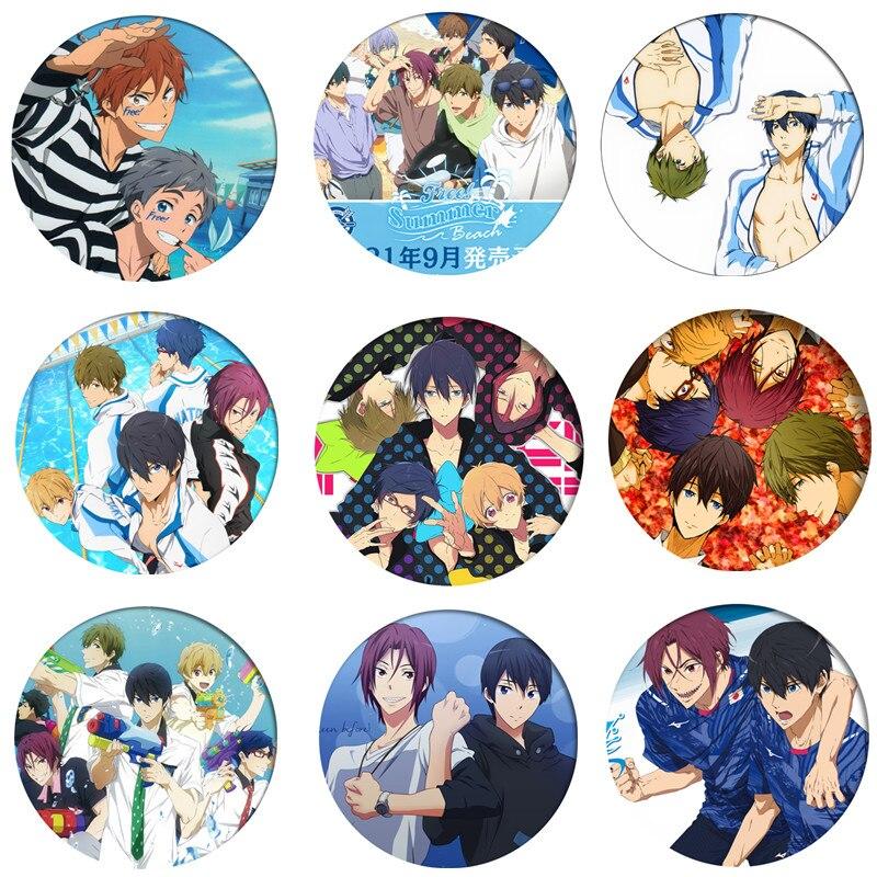 Аниме Free!Iwatobi, значок, косплея, брошь Тачибана Макото, значки на булавке для одежды, рюкзаков, детский подарок
