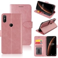 mks phone case for oukitel c13 pro flip stand magnetic soft tpu silicone pu leather wallet case with id card slot