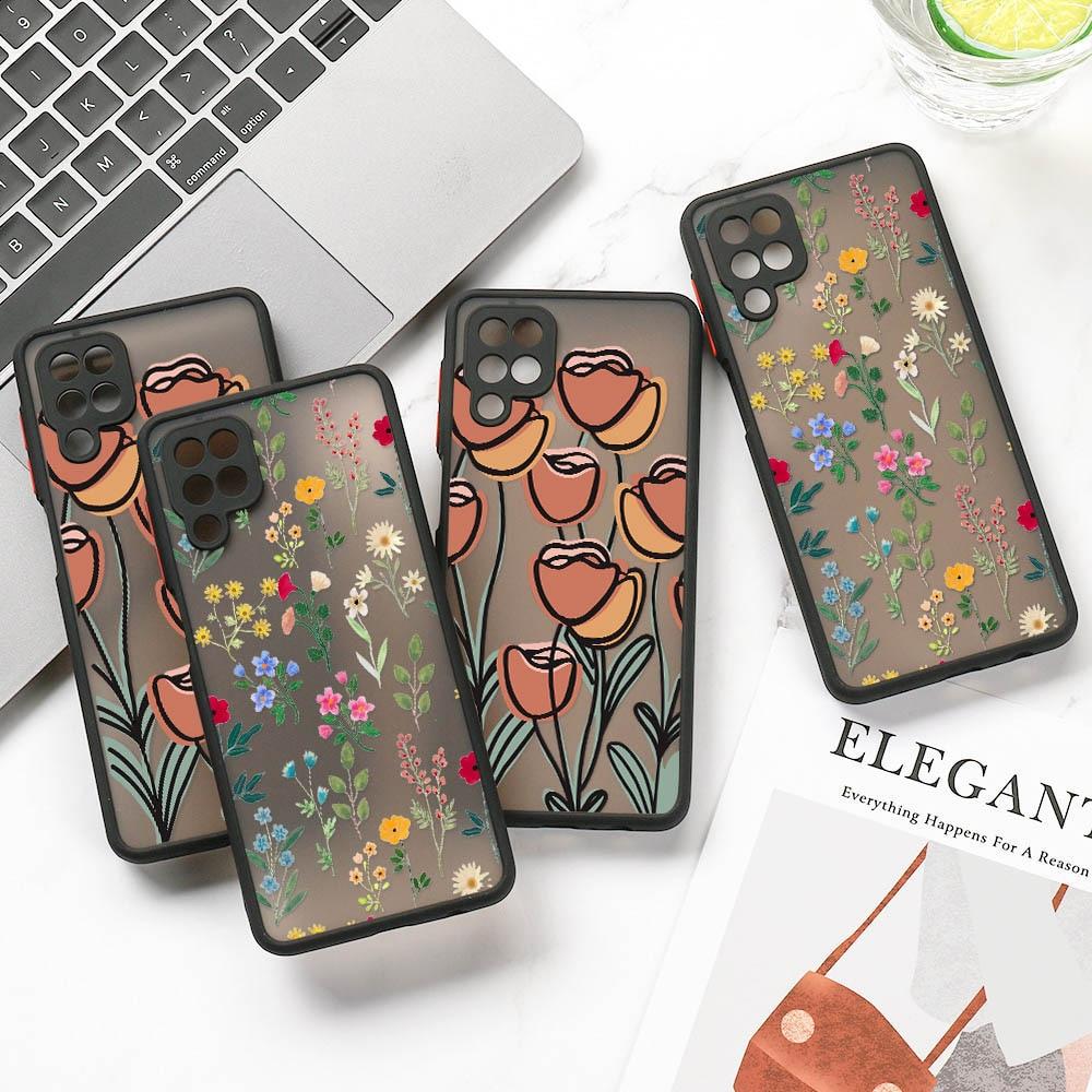 Matte Case For Samsung S20 FE Case Cute Coque For Samsung S21 S30 Ultra S10 S9 S8 Plus S10e G970F Fl