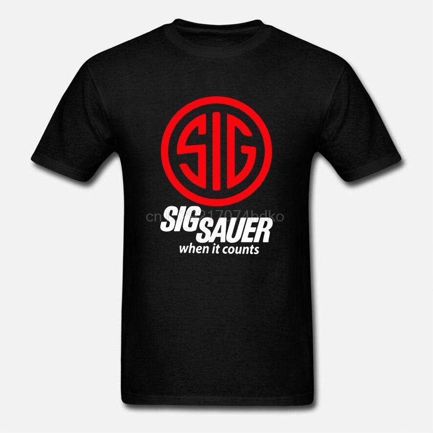 Рубашка Sig Sauer, Мужская футболка права на оружие Футболки      АлиЭкспресс