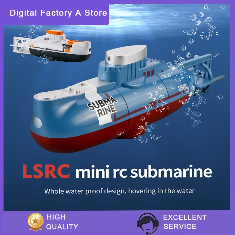 Mini RC Submarine 0.1m/s Speed Remote Control Boat Waterproof Diving Toy Simulation Model Gift for K
