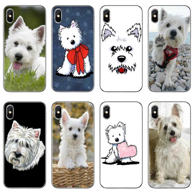 West Highland Terrier de Westie perro cachorro para Huawei Mate 20 10 9 P30 P20 P10 P9 pro Lite P Smart funda transparente más 2019