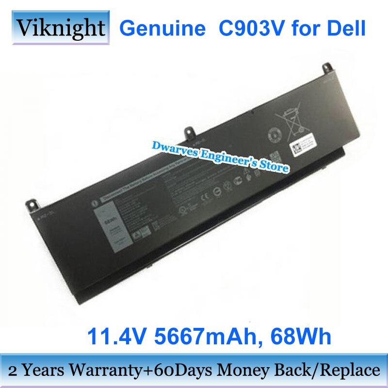 Batería C903V auténtica para portátil DELL, 11,4 V, 5667mAh, 17C06, 447VR, 3ICP4/60/81-2,...