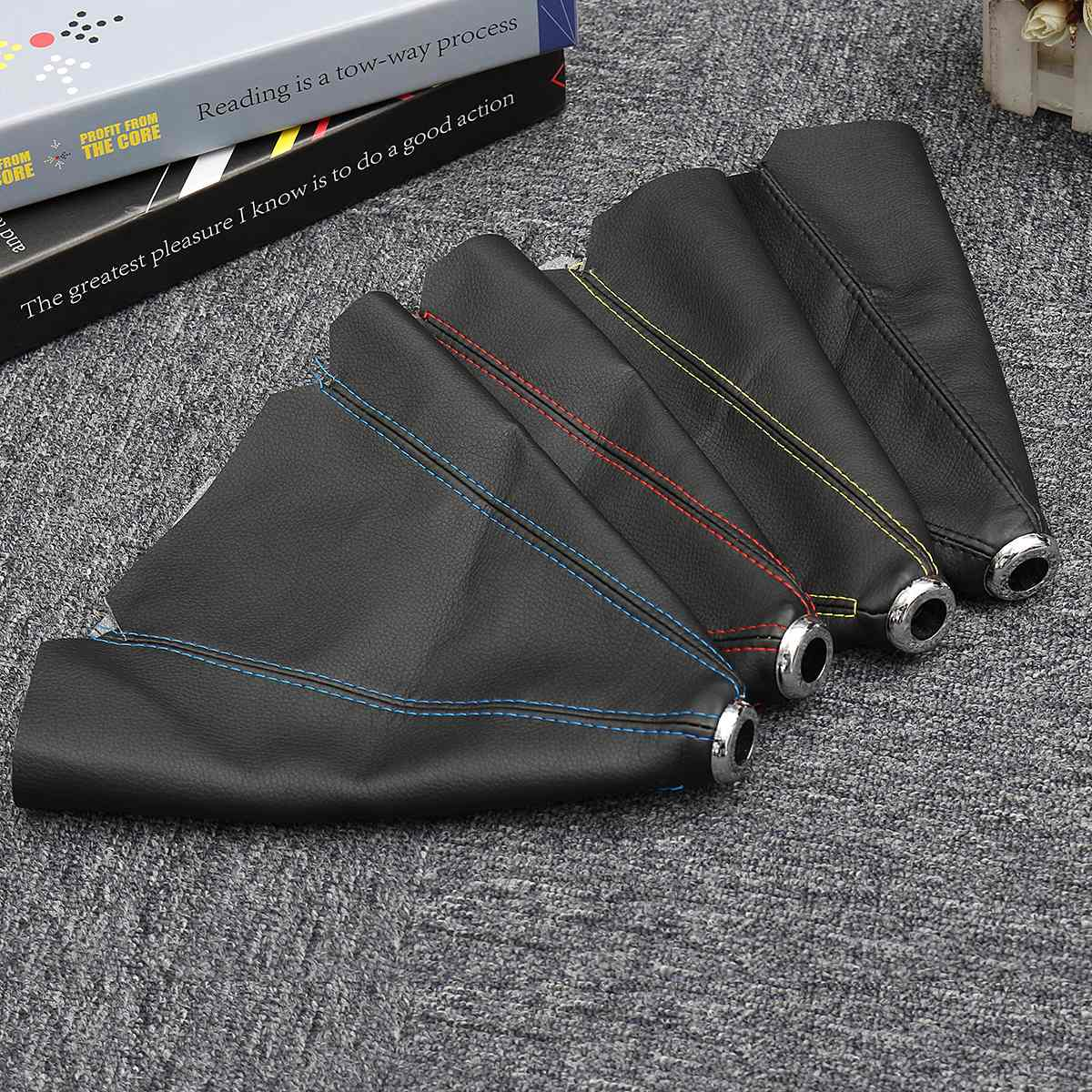 Collar Universal de cambio de marchas de coche de 15mm, cubierta antipolvo para botas de polaina, cubierta de cuero de PVC para Honda/VW/Toyota/BMW
