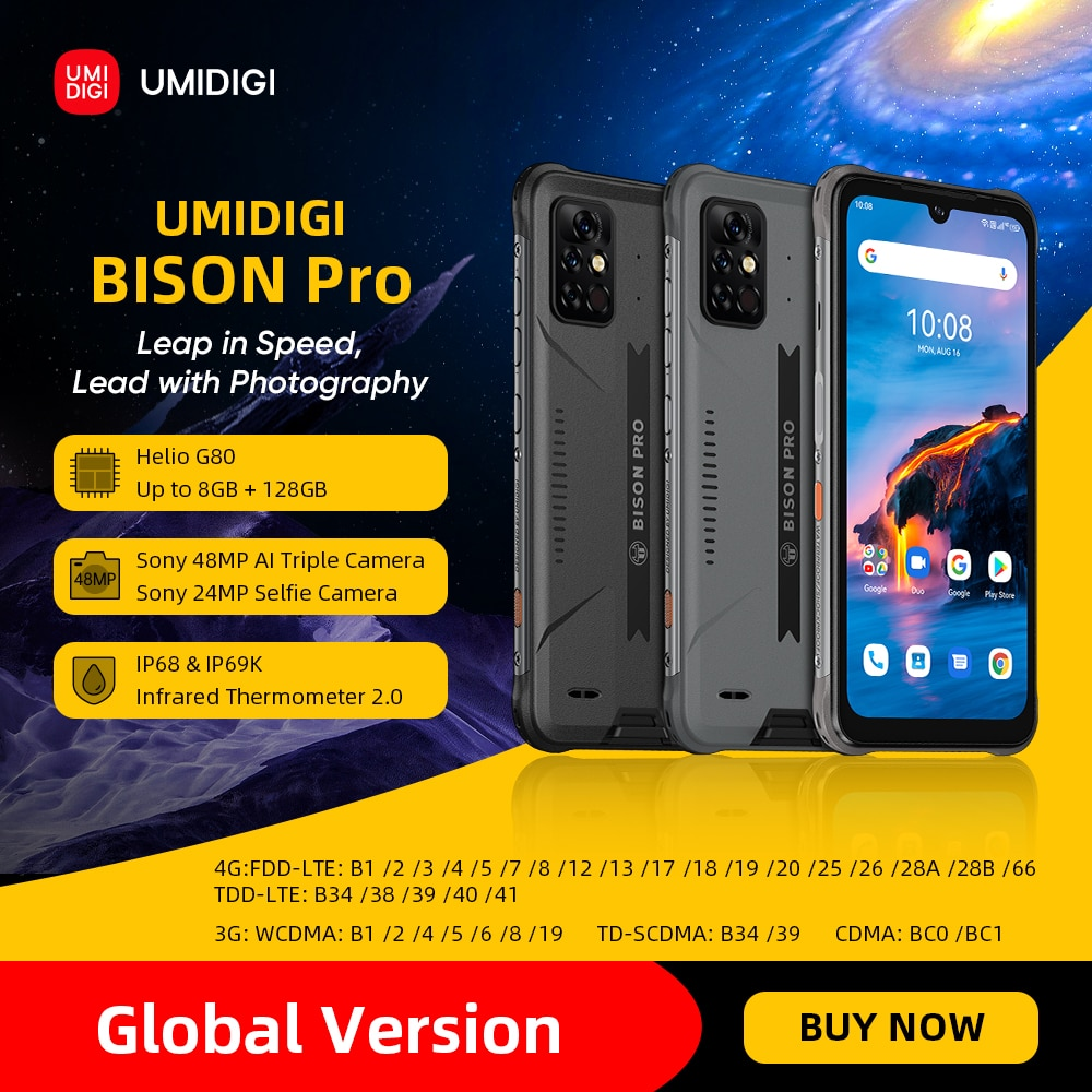 Смартфон-umidigi-bison-pro-128-ГБ-ip68-ip69k-helio-g80-nfc-камера-48-МП-экран-63-дюйма-fhd-5000-мАч