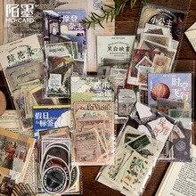 60 pcs/pack Retro Floriography Bullet Journal Decorative Stickers Adhesive DIY Decoration Diary Plants magazine Label Stickers
