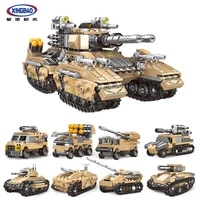 xingbao new 13005 military army series 8 in 1 deformation the mirage tank sets building blocks armored vehicles bricks kids toys