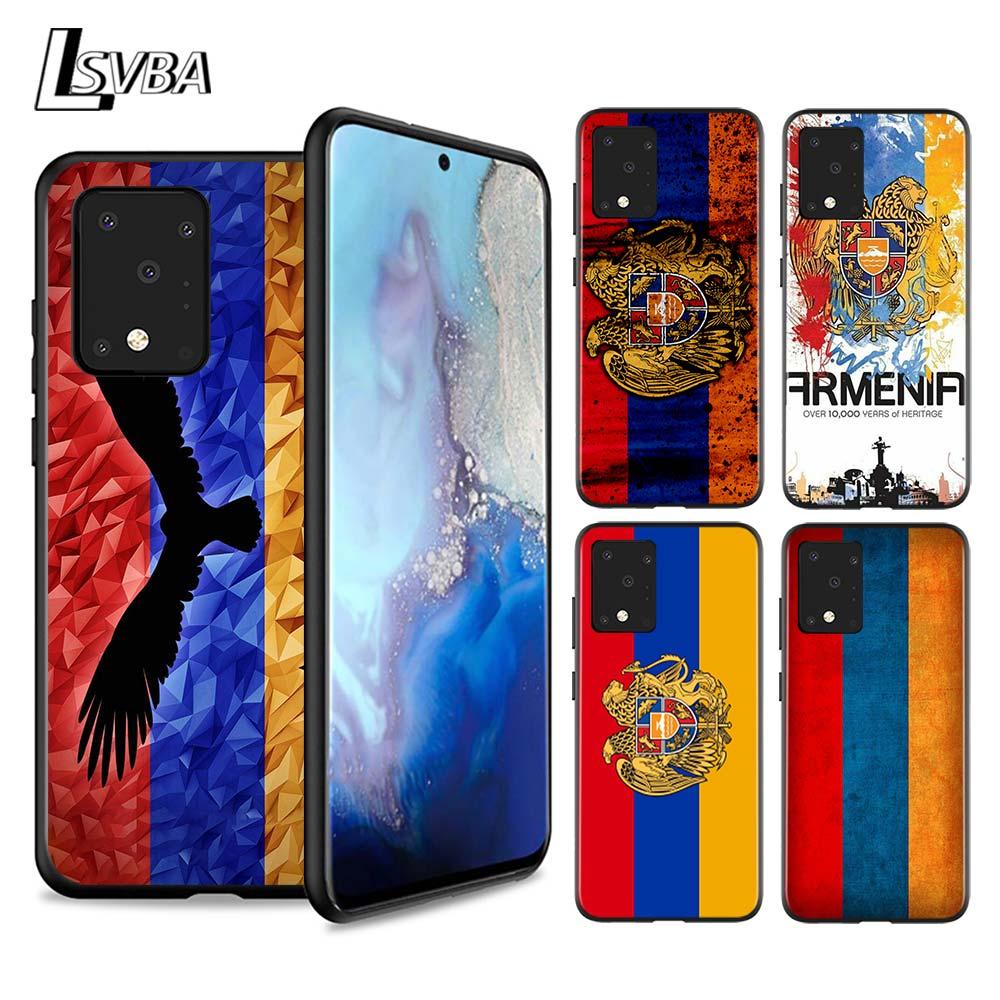 Funda suave de silicona con bandera de Armenia para Samsung Galaxy S20 Ultra Plus A01 A11 A21 A31 A41 A51 A71 A91