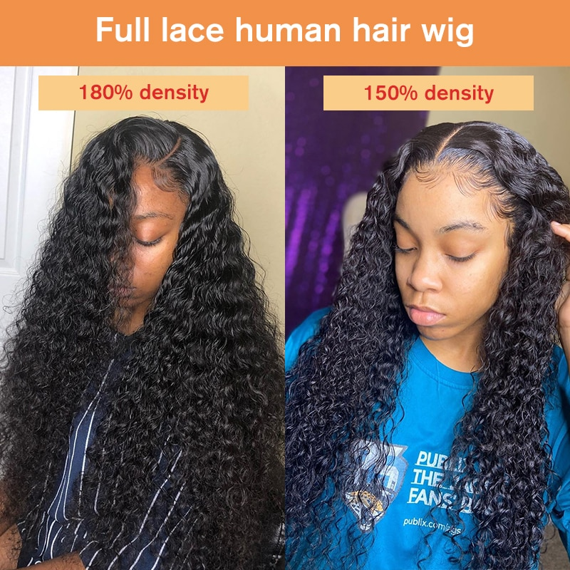 Curly Glueless Full Lace Human Hair Wigs With Baby Hair Pre Plucked HD Lace Wig Transparent Lace Wigs Bob Fake Scalp Dolago