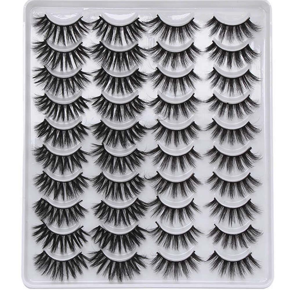8/20 Pairs Mixed Styles 3D Mink False Eyelashes Natural Wispy Criss-cross Fluffy Eyelash Soft Handmade Cruelty-free Lashes