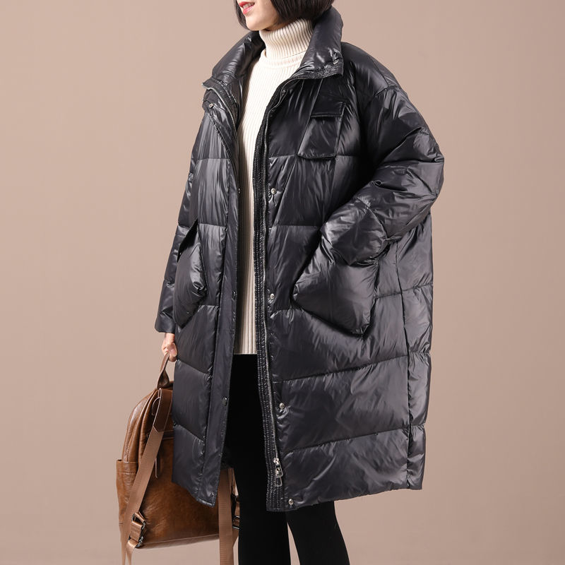 Korean Style Winter Ultra Light 90% White Duck Down Jacket Maternity Long Sleeve Warm Coat Casual Zip Pregnancy Clothes enlarge