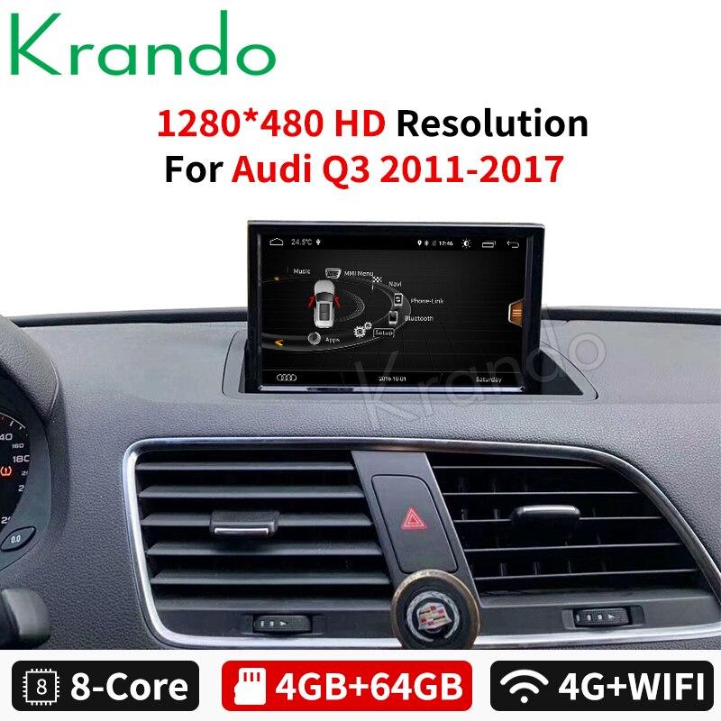 Krando Android 9,0 4 + 64gb 8 für Audi Q3 2011-2017 auto radio dvd gps navigation multimedia player mit bluetooth