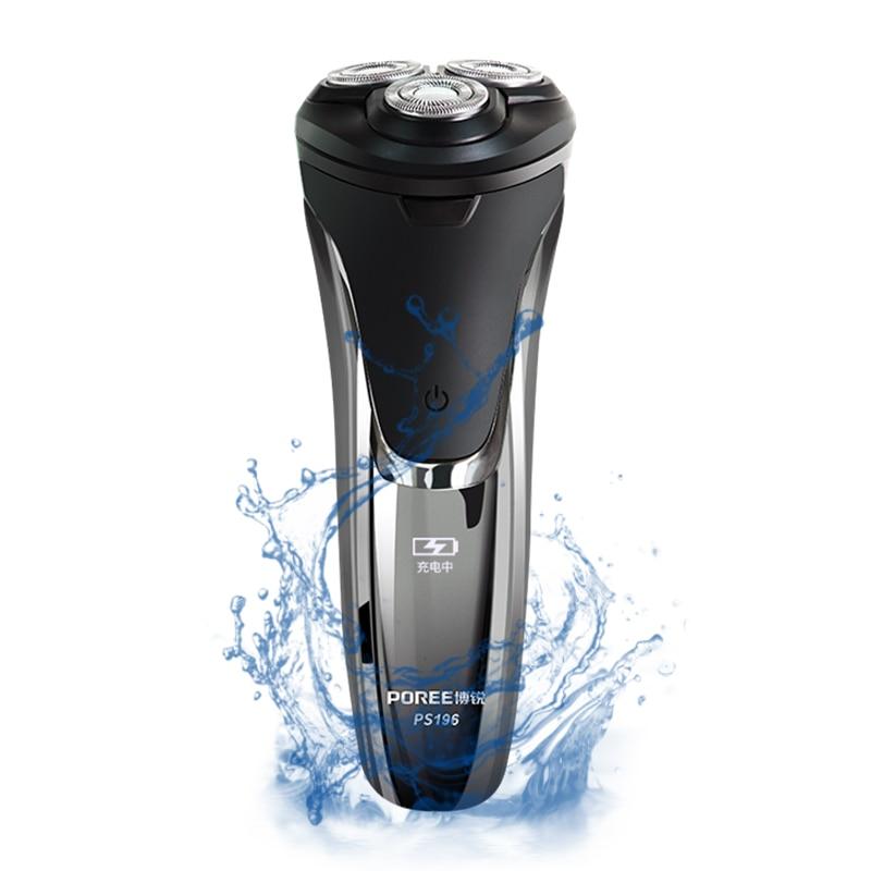 Máquina de afeitar eléctrica Trimmer LED inteligente peluquero navaja de afeitar de...