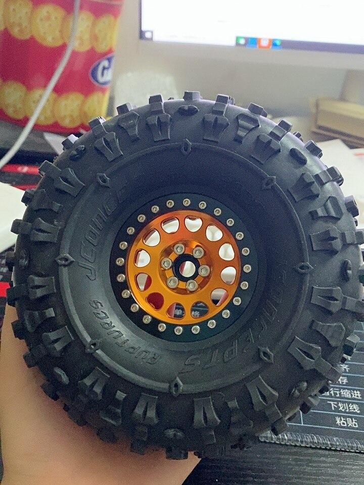 4PCS 2.2 Inch Beadlock Wheel Rims & Rubber Tire for 1/10 RC Rock Crawler Axial SCX10 RR10 AX10 Wraith 90048 90018 KM2 enlarge
