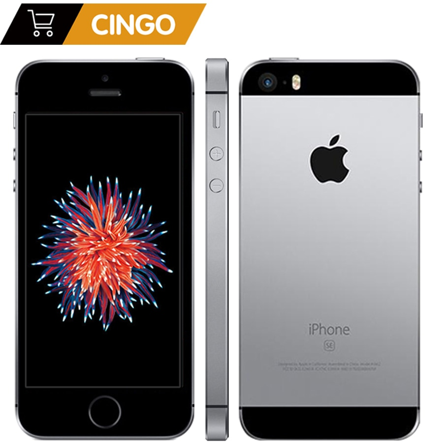 Promo Apple iPhone SE Dual Core Cell Phones 12MP iOS Fingerprint Touch ID  2GB RAM 16/64GB ROM 4G LTE Refurbished iPhone se
