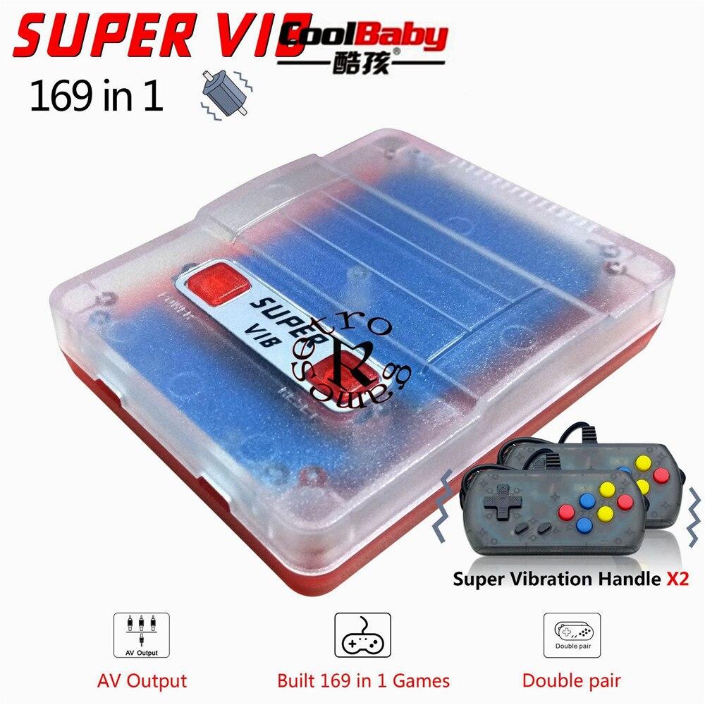 وحدة تحكم ألعاب ريترو صغيرة محمولة مع 169 لعبة ، وحدة تحكم تلفزيون محمولة Super VIB ، لوحة ألعاب مزدوجة
