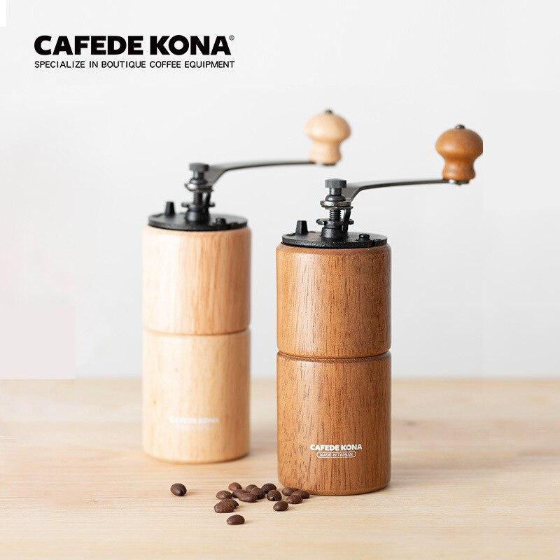 Cafetera Kona, máquina de molienda Manual de café de Taiwán, máquina de molienda Manual de granos de café
