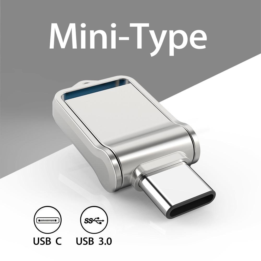 TOPESEL Mini 32GB 64GB 128GB Type C Ultra Dual USB 3.0 Flash Drive Memory Stick Thumb Drive U Disk