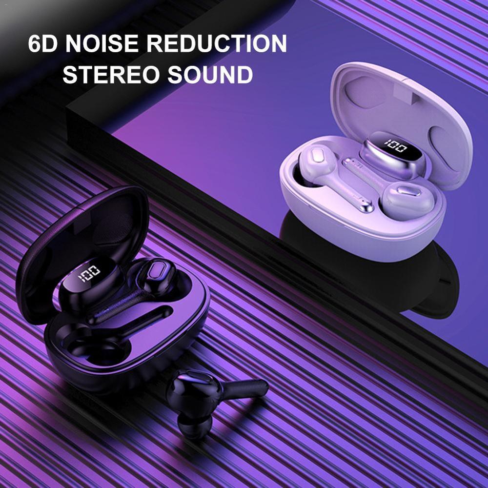 TWS Mini Bluetooth auriculares inalámbricos auténticos LED Bluetooth para Gaming auriculares 5,0 6D auriculares inalámbricos deportivos inalámbricos Android