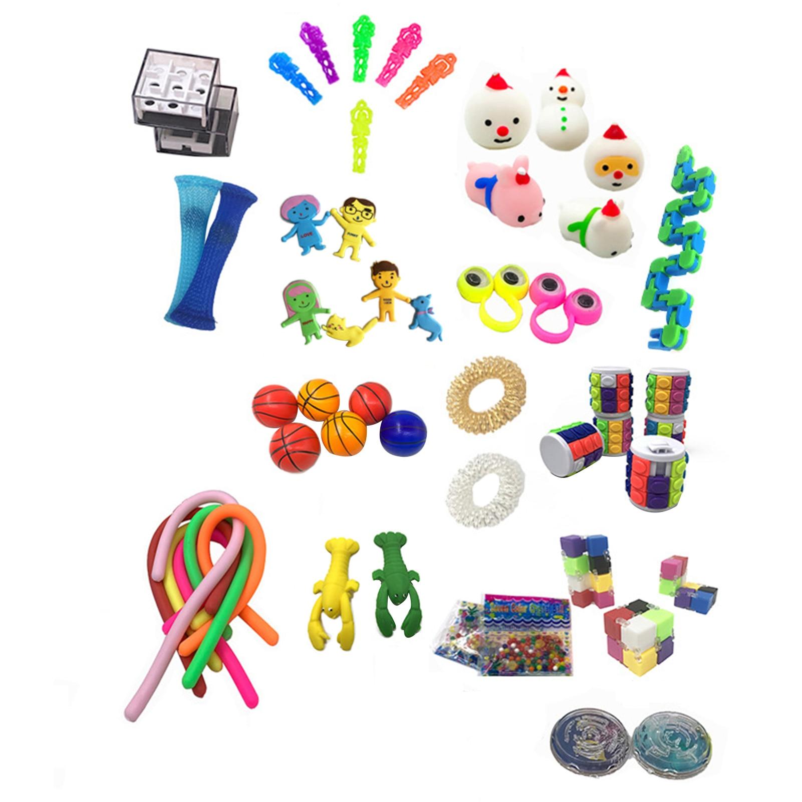 50Pcs/Pack Fidget Sensory Toy Set Stress Relief Toys Autism Anxiety Relief Stress Pop Bubble Fidget Sensory Toy For Kids Adults enlarge
