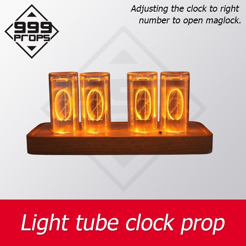 escape room prop light tube clock adjusting the tube to right number to open maglock escape game devices clock prop