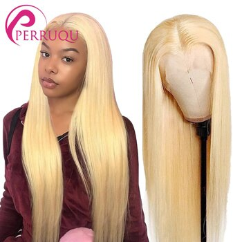 Straight 613 Blonde Lace Front Wig Human Hair Wigs For Women Perruqu Bone Lace Closure Wig Blonde Short Bob Wig T Part Lace Wigs