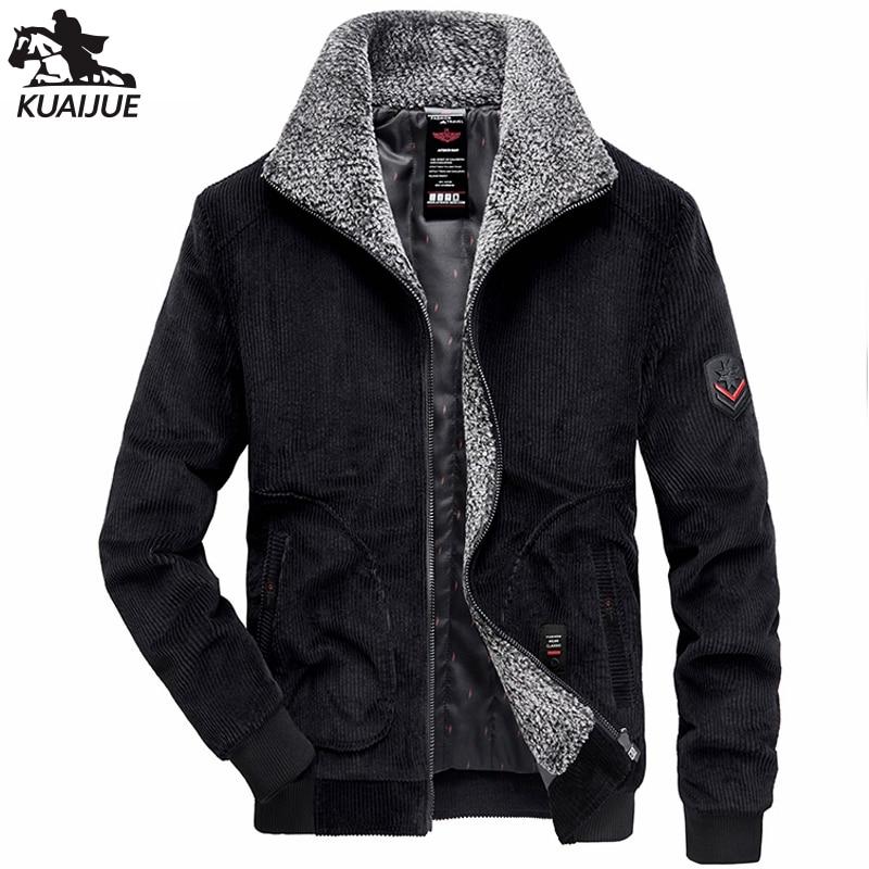 Зимняя парка, мужские новые куртки, мужские вельветовые утепленные вельветовые мужские пальто, деловое повседневное теплое пальто для мужч...