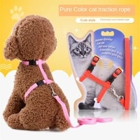 cat leash chest strap i shaped vertical bar breathable mesh adjustable cat harness cats lead nylon meterial for pet harness belt
