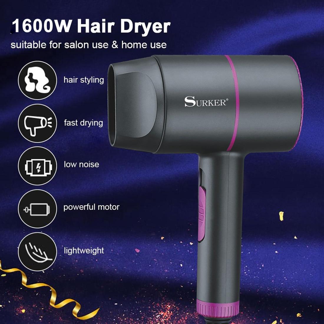 1600w secador de cabelo profissional secador de cabelo secador de salao de beleza