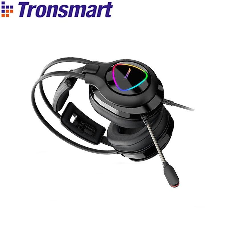 Tronsmart-auriculares Glary Alpha para videojuegos, cascos con iluminación LED para ps4, Gamer...