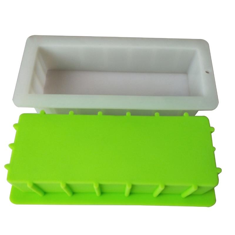 قالب من السيليكون مستطيلة لا تشوه أو تنتفخ ، قالب نخب ، صابون يدوي الصنع تقديم قالب قدرة 1400