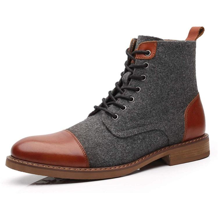 الرجال حذاء من الجلد الخريف الشتاء أحذية الدانتيل غير رسمية الجوارب أوكسفورد أحذية الموضة الرجال حجم كبير bt6
