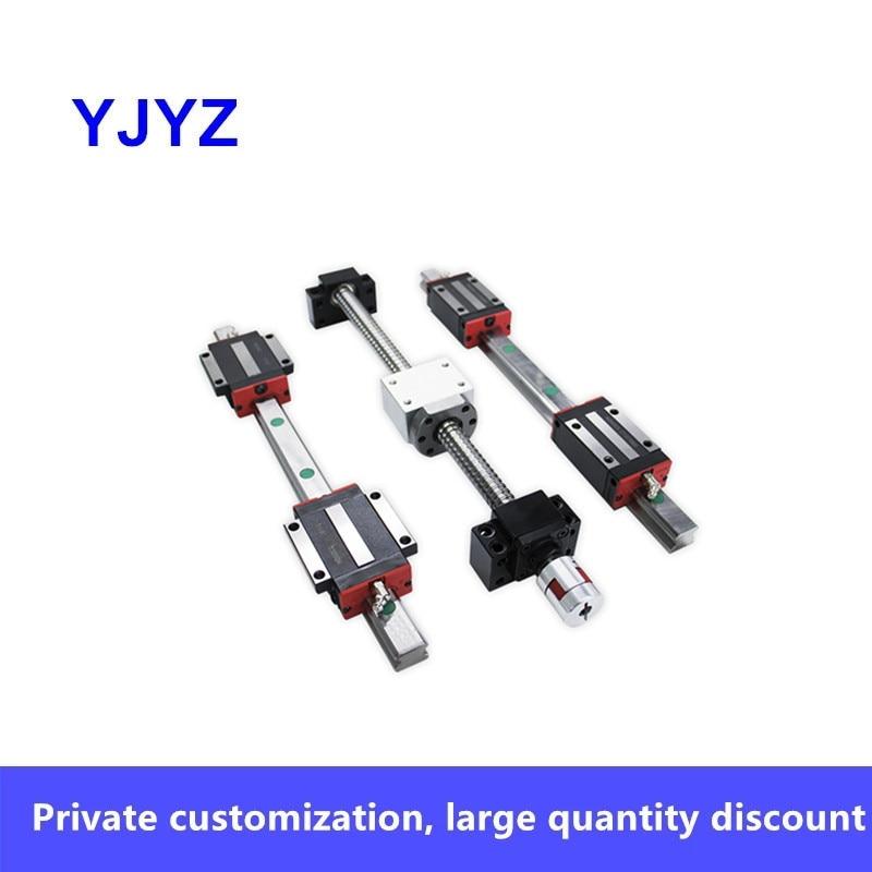 2 قضبان HGR20 + 4 HGW20CC + 1 SFU20 سلسلة + الجوز حفرة مستديرة + HM-15-57 (الألومنيوم المصبوب) + BF15 + DSG20H + XB30 * 40-12*14(C7)/(C5)