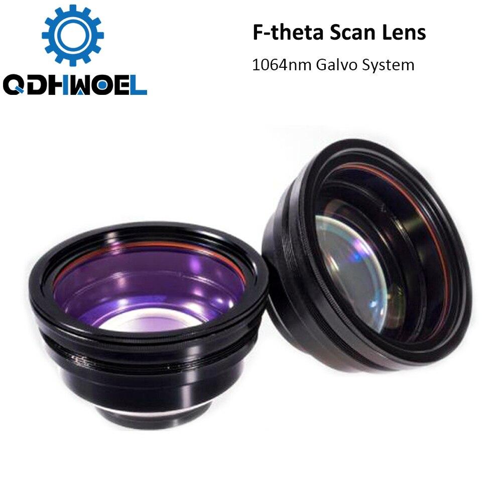 F-theta lente de escaneo campo lente 1064nm 50x50 - 300x300 F63-420mm para 1064nm YAG piezas de Máquina de marcado láser de fibra óptico