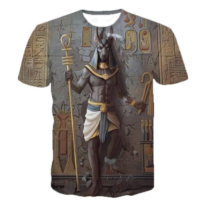 2020 estilo Retro Horus antiguo Horus egipcio Dios Ojo de Egipto Faraón Anubis 3d camisetas divertidas Harajuku manga corta