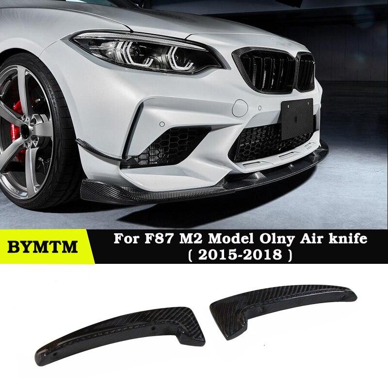 Parachoques delantero de fibra de carbono de estilo 3-D, alerón de cuchillo de aire para BMW Coupé de competición solo F87 M2