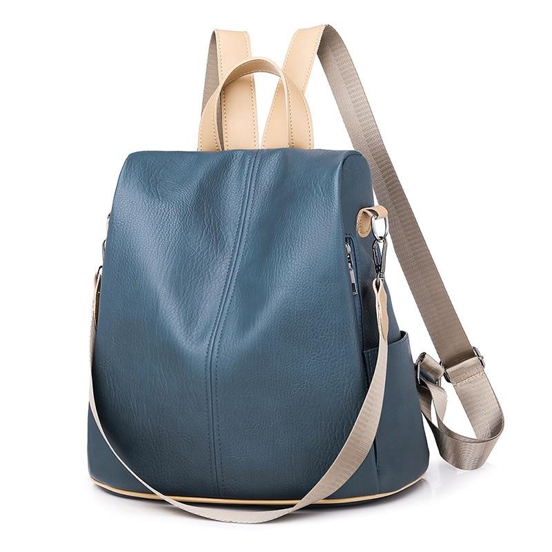 Женские Водонепроницаемые кожаные рюкзаки с защитой от кражи, сумки для девушек, многофункциональный дорожный ранец на плечо