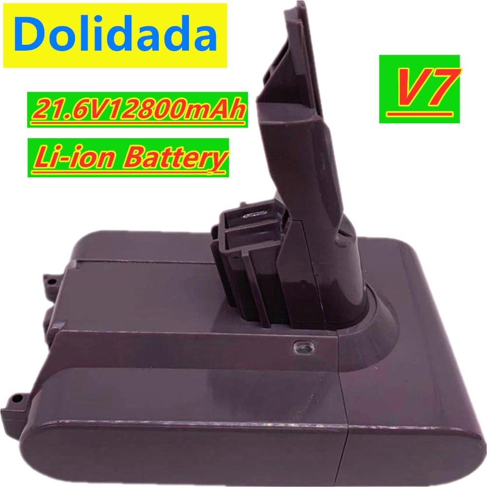 V7 original 21,6 V 12800mAh li-lon batería recargable 21,6 V 12.8Ah para Dyson V7 batería Animal Pro aspiradora reemplazo