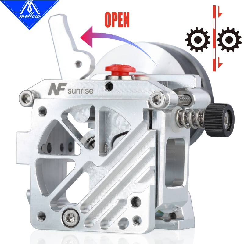 Mellow Lightweight NF-sunrise V1.1 Dual Drive Extruder For Upgrade Aquila Ender 3 V2 Voron Blv Prusa 3D Printer Parts