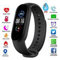 2021 смарт-браслет, водонепроницаемые спортивные Смарт-часы для мужчин и женщин, фитнес-браслет с пульсометром и тонометром для Android и IOS
