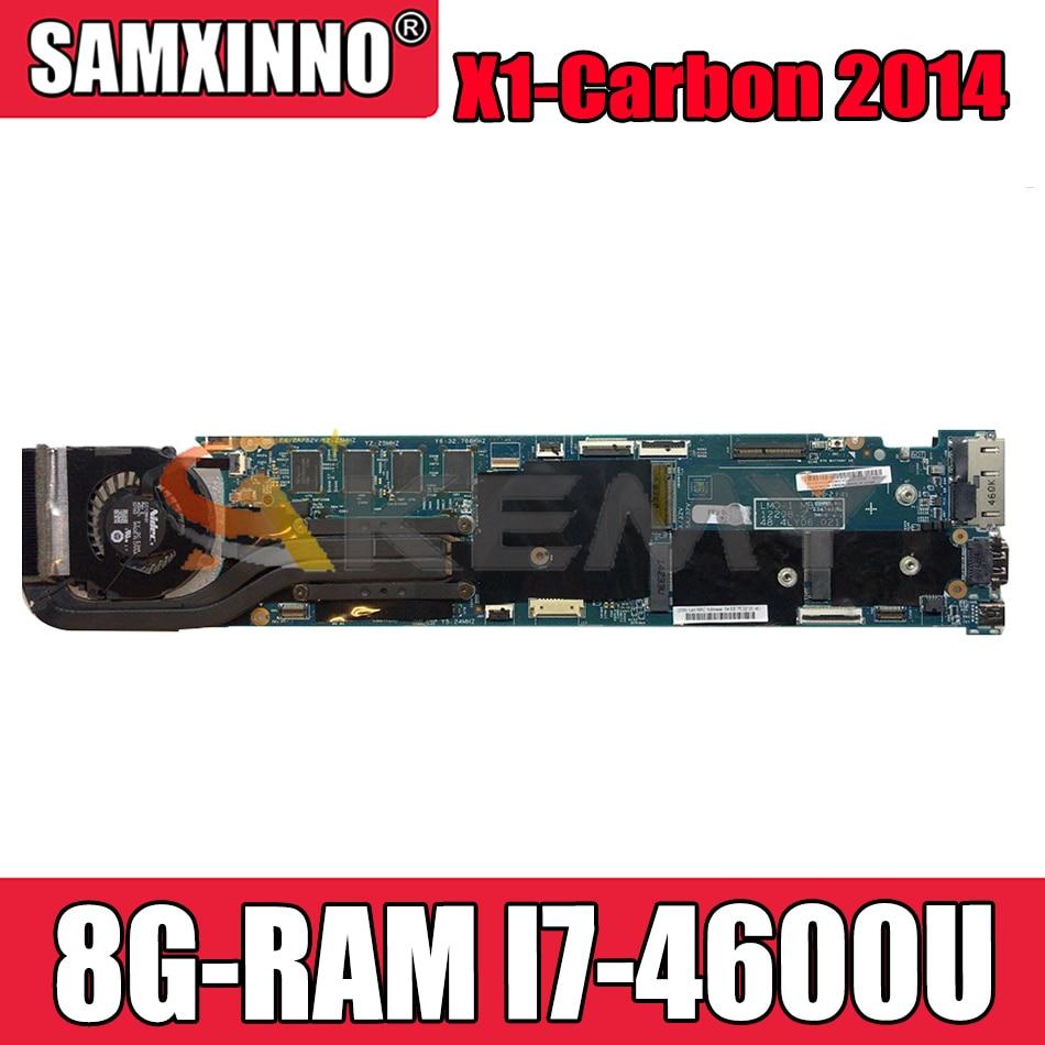 Akemy 12298-2 اللوحة الأم للكمبيوتر المحمول لينوفو ثينك باد X1-Carbon 2014 اللوحة الرئيسية الأصلية 8G-RAM I7-4600U