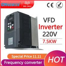2.2kw/7.5KW VSD 50Hz 60Hz 220V 1 entrée de phase à 220V 3 inverseur de fréquence de sortie de phase