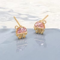 fashion cute crystal jellyfish stud earrings pink animal pendant earring fashion party teen aesthetics jewelry free shipping