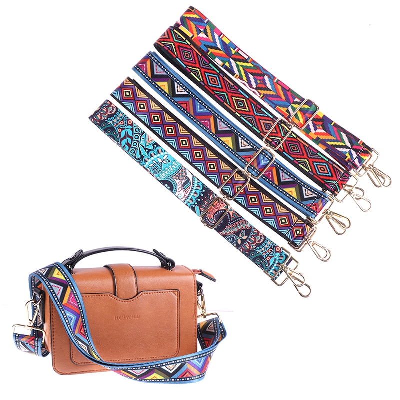140CM Bag Handle Bag Strap Cross Body Messenger Nylon Bag Straps For Women Removable DIY Shoulder Rainbow Handbag Accessories
