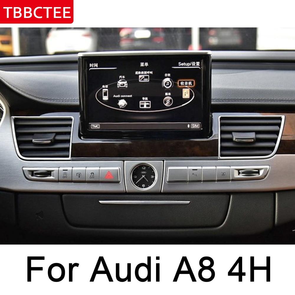 Para Audi A8 4H 2011 ~ 2018 MMI Android coche reproductor Multimedia Auto radio gps Navi mapa WiFi original estilo Bluetooth unidad de cabeza