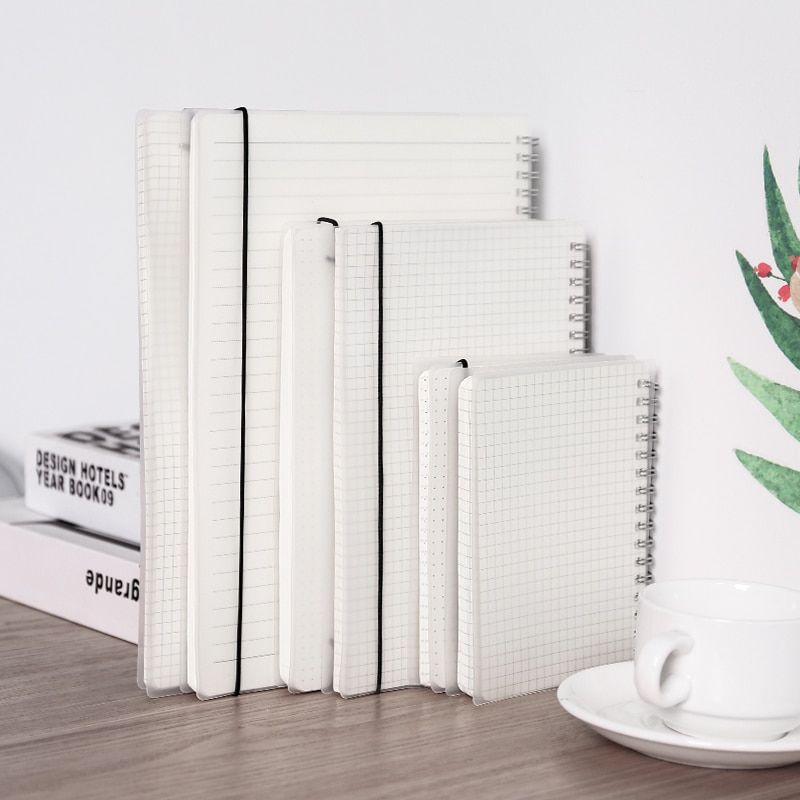 2021 new agenda coil spiral a5 diary notebook grid paper daily planner organizer notepad school office supplies stationery A6 A5 B5 Diary Notebook School Supplies Journal PP Coil Grid Dot Blank Line Sketchbook Planner Agenda Notepad Office Stationery