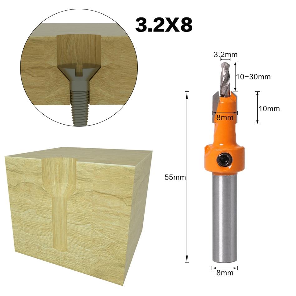 1 vnt. 8 mm koto HSS medienos frezavimo frezos antgalių rinkinys - Grąžtas - Nuotrauka 2