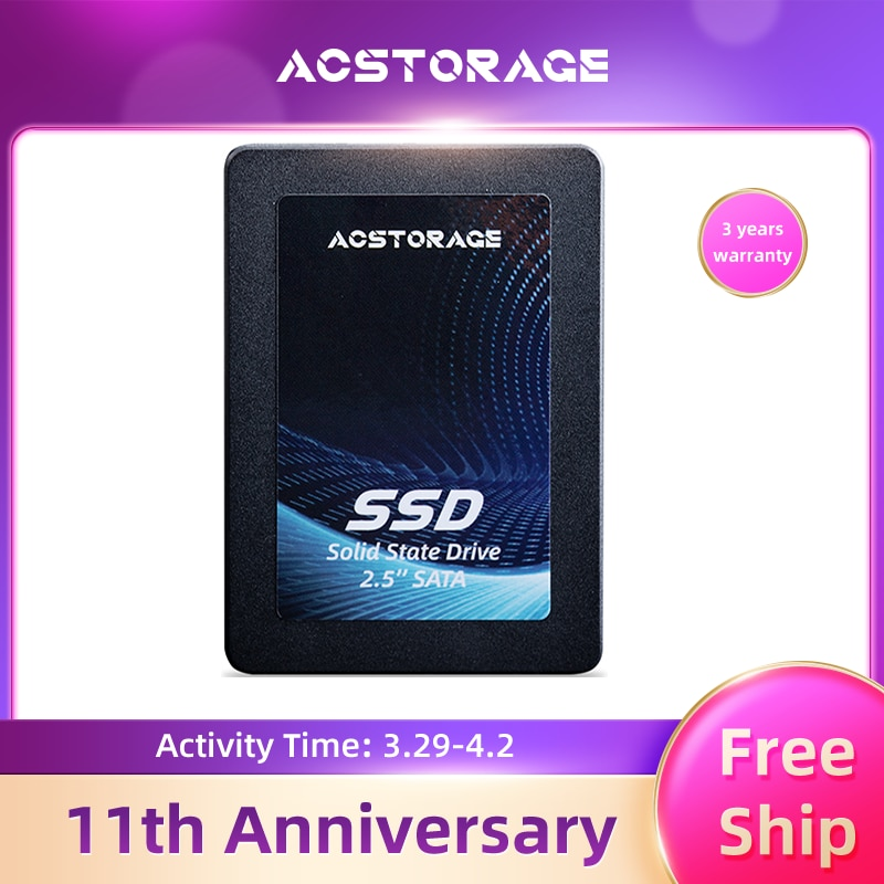 AC Storage SSD 2.5 Inch SATA3 240gb 480gb 960gb 2.5'' Hdd Internal Solid State Drive Hard Disk For Laptop Desktop computer pc