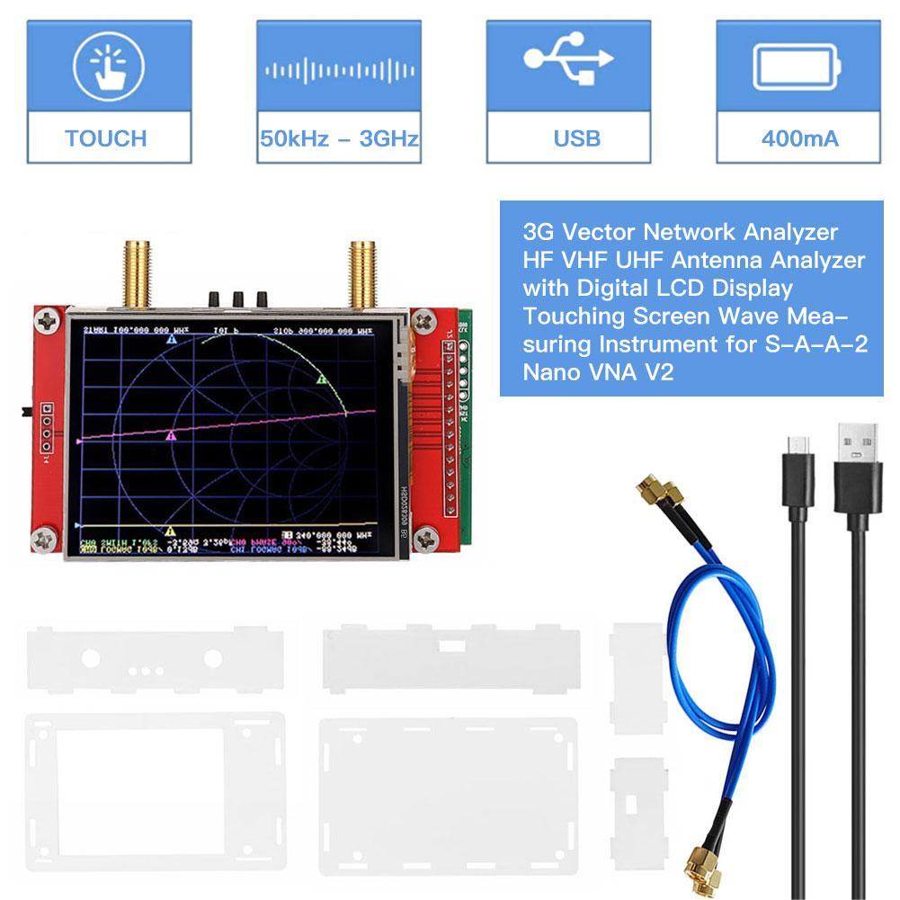 S-A-A-2 نانو VNA V2 3G ناقلات شبكة محلل HF VHF UHF هوائي محلل موجة قياس أداة NanoVNA الطيف محلل