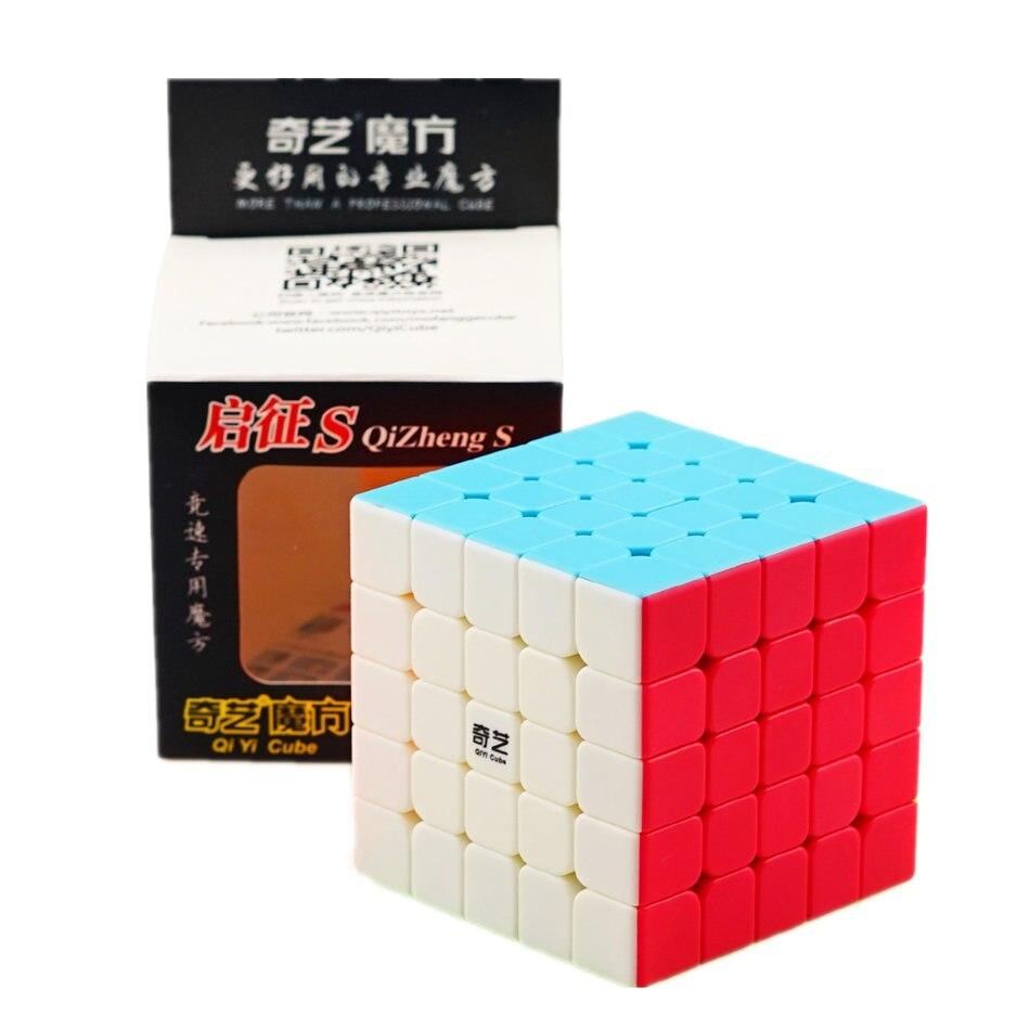 Qiyi 5x5 cubo mágico qizheng s 5x5 quebra-cabeça cubo mágico alta qualidade velocidade cubo cubo mágico brinquedos educativos para crianças 5x5 cubos